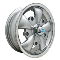 VW BUG GHIA WHEEL GT-5-Spoke EMPI  5.5 X 15 SILVER  5X205 9691, EACH