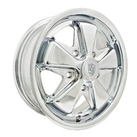 EMPI VW LATE BUS TYPE 2 911 ALLOY WHEELS 15X5-1/2, 5-112  ALL CHROME