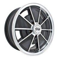 EMPI BRM Rim 5-1/2 X 15 wheel VW Late Bus Type 2  5/112 Gloss Black  9697
