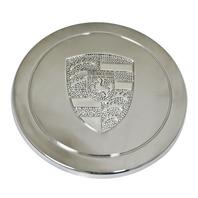 00-9718-0 Chrome Stainless Steel Cap, EMPI Logo, For EMP 911 Alloys & Gasser Wheels, Each
