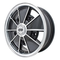 EMPI BRM Rim 6-1/2 X 15 wheel Gloss Black Early Bug Bus Type 1 2 3, 5-205, 9729