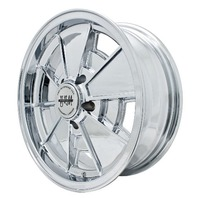 EMPI BRM Rim 15x5-1/2 wheel Chrome Late Bus  Type  2 , 5-112