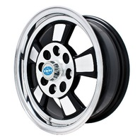 EMPI RIVIERA WHEEL 5.5 X 15 BLACK POL/LIP 4x130, BUG GHIA TYPE 3 9732