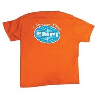 Empi T-Shirt VW Bug American Classic Logo 100% Cotton, Orange  Large  15-4025