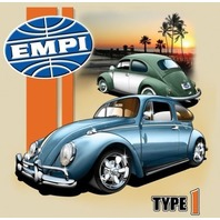 Empi T-Shirt , VW  Volkswagen Type 1 Bug 100% Cotton , Large , 15-4054