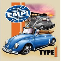 Empi T-Shirt VW  Volkswagen Convertible Type 1 Bug 100% Cotton  Small 15-4057