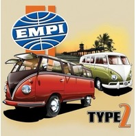 Empi T-Shirt VW Volkswagen  Type 2 Bus 100% Cotton Large 15-4071
