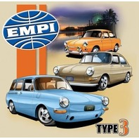 Empi T-Shirt VW Volkswagen  Type 3 100% Cotton X-Large 15-4077