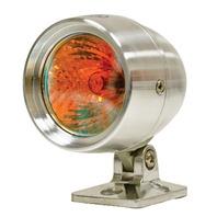 EMPI VW BUGGY SAND RAIL ROCK CRAWLER ALUM BULLET LIGHTS RED FLAT LENS 16-2056