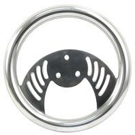 "VW BUG SAND RAIL RAT ROD 10"" Polished Aluminum ""Batwing"" Steering Wheel 16-8100"