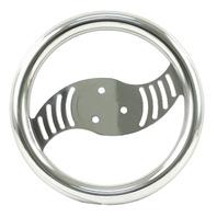"""VW BUG SAND RAIL RAT ROD 10"""" Polished Aluminum """"Vortex"""" Steering Wheel 16-8102"""