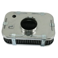 """EMPI VW BUG BUGGY CHROME AIR CLEANER 2"""" TALL  For Stock VW Carb 17-2823"""