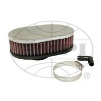 "EMPI VW Bug Oval Gauze Rubber Flange Air Cleaner Stock Carb 2""Neck 2-3/4 17-2976"
