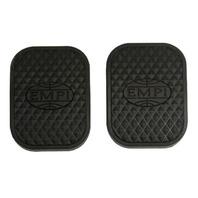 "EMPI  ""EMPI"" LOGO PEDAL PADS (2) FOR VW BUG GHIA BUS BUGGY RAIL BAJA  17-2996"