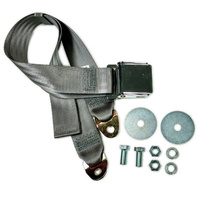 "EMPI VW BUG  AIR COOLED, 2 Point Aviation Style Lap Seat Belt, GREY,  72"" EA."