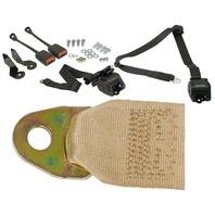 EMPI  BUG 1968-79, 3- Point Retractable Seat Belt/Harness, TAN,  PR. 18-1030