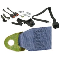 EMPI  BUG 1968-79, 3- Point Retractable Seat Belt/Harness, BLUE,  PR. 18-1031