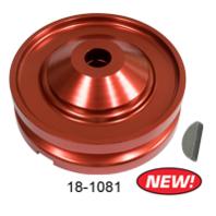 Red 12V Alternator / Generator Pulley Kit, VW Beetle Baja Buggy EMPI 18-1081