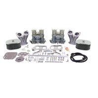 43-8319-0 EMPI DELUXE DUAL WEBER 44IDF KIT, WITH VELOCITY STACKS, TYPE 1