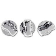 Pirate Mfg FJ0005SC  2007-14 Toyota FJ Cruiser Smooth Chrome Billet A/C Knobs