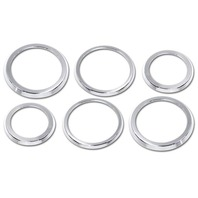 Pirate H20023SC 2003-2007 H2 Hummer SUV & SUT Chrome Billet A/C Vent Trim Rings