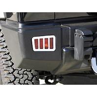 H20048SC 05-10 H2 Hummer SUV & SUT Chrome Billet Rear Bumper Light Guards