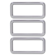 Pirate Mfg H30010SC 2006-2010 H2 & H3 Hummer Chrome Billet Logo Surrounds, Set.