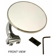 "STREET ROD 4"" STAINLESS STEEL UNIVERSAL PEEP MIRROR LEFT OR RIGHT DOOR CHROME"
