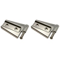 2007-15 Jeep Wrangler JK Chrome Billet Hood Hinges, Pr.