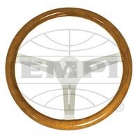 "VW Bug Ghia EMPI Classic Wood Steering Wheel , 380mm Diametr w/31mm Grip,3"" Dish"
