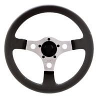 "VW Bug Ghia  Formula GT Steering Wheel Polished 3-Spoke 13"" 3"" Dish 79-4037"