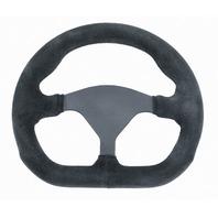 """VW Sand Rail Rock Crawler D-Shape Steering Wheel Black Suede 3-Spoke 10"""" 79-4040"""