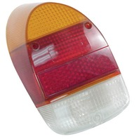 VW Bug Rear Tail Light Lens 68-70 Amber/Red Style Ea 98-1076-B