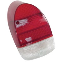Rear Tail Light Lens 1968-1970 Red White Style VW Bug VW Beetle Each 98-1077-B