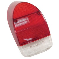 VW Bug Rear Right Tail Light Lens 71-72 Red and White Each 98-2026-B