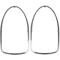Chrome Tail Light Trim, Left/Right, VW Type 1  Bug 68-70, Pair