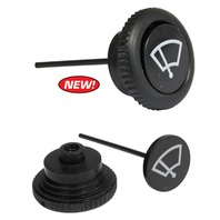 VW Wiper Switch Knob, Black, Each - Type 1 Bug GHIA 1968-UP, T-3 68-71 T-2 68-72