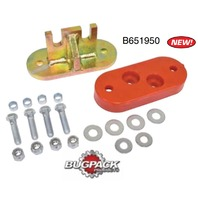 TRANS MOUNT ADAPTER KIT, LATE CHASSIS W/2-BOLT NOSE CONE (EARLY TRANS)