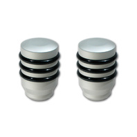 Pirate Mfg FJ0008SA-KIT 2007-14 Toyota FJ Cruiser Silver Billet Shift Knob Pkg