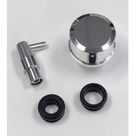 Polished Billet Aluminum PCV Valve & Valve Cover Breather Kit W/ Grommets