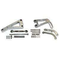 SBC Polished Billet Alternator & Power Steering Pump Bracket LWP 283 350 400 V8