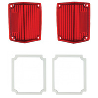 1970-1972 Chevy El Camino & Malibu Station Wagon R L Tail Light Lens & Gasket Kit