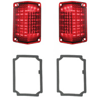 1968 1969 Chevy El Camino & Station Wagon R L LED Tail Light Lens & Gasket Kit