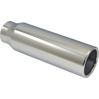 "Stainless Steel  Rolled Edge Exhaust Tip 2.25"" Inlet - 3"" Outlet - 10"" Long"