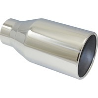 "Stainless Steel Rolled Edge Exhaust Tip 3"" Inlet - 5"" Outlet - 10"" Length - Weld"
