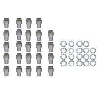 "24 Pc Set Chrome Steel Mag Shank Lug Nuts 7/16"" x 20 Righ Hand Thread Chevy GM"
