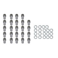 24 Pc Set Chrome Steel Mag Shank Lug Nuts 12MM x 1.5 For Toyota Lexus Wheels