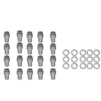 "20 Pc Set Chrome Steel Mag Shank Lug Nuts 7/16"" x 20 Righ Hand Thread Chevy GM"