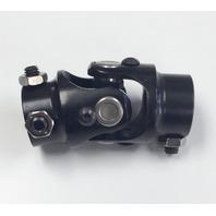 "Hot Rod Forged Steel Black Universal Single Steering U-Joint 3/4"" DD x 3/4"" DD"