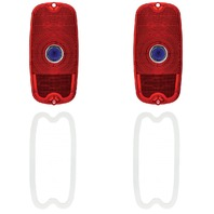 (2) 1960 - 66 Chevy GMC Pickup Truck Fleetside Blue Dot Tail Light Lens / 61 62 63 64 65